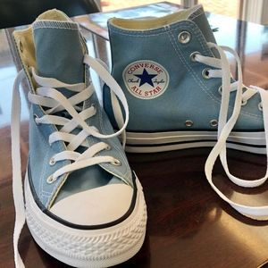 Brand New Unisex Converse Light Blue Hi Tops M6/W8